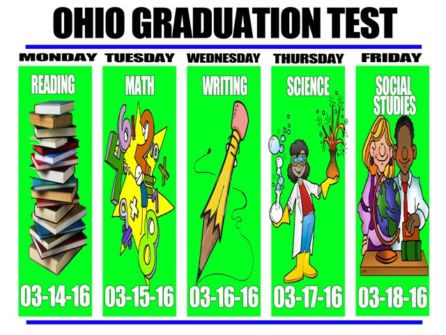 SPRING OHIO GRADUATION TEST DATES